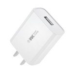 WK WP-U100 Single USB Port Fast Air Travel Charger Power Adapter, US Plug