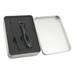 2 in 1 Nail Art Tool Nail Clipper Stainless Steel Nail Nipper (Black)