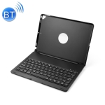 F102 For iPad 10.2 inch Wireless Bluetooth Keyboard Leather Case with Backlight(Black)