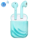 InPods 12 TWS Bluetooth 5.0 Marble Pattern Wireless Bluetooth Earphone with Magnetic Attraction Charging Box, Support Touch & Bilateral Call(Blue)