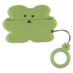 For AirPods Pro Thick Version Cartoon Character Silicone Earphone Protective Case with Hanging Ring(Green)