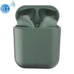 InPods 12 TWS Bluetooth 5.0 Metallic Matte Plating Bluetooth Earphone with Charging Case, Supports Call & Touch(Dark Green)