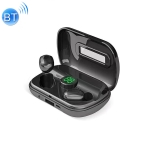 X10 TWS Digital Display Bluetooth 5.0 Wireless Headset with Charging Box (Black)