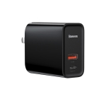 Baseus Speedy Series 30W Type-C / USB-C + USB PPS Quick Charging Travel Charger Power Adapter(Black)