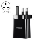 Baseus Speed Mini Series 10.5W Dual USB Travel Charger, UK Plug(Black)