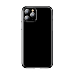 For iPhone 11 Pro Max TOTUDESIGN Wind Series Shockproof Electroplating PC Protective Case (Black)