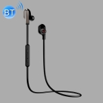 WK BD200 Bluetooth 4.2 Wireless Sports Magnetic Adsorption Wired Control Bluetooth Earphone, Support for HD Calls  (Black)