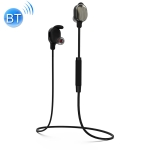 WK BD350 Bluetooth 4.2 Magnetic Adsorption Wired Control Bilateral Sports Bluetooth Earphone, Support Call (Black)