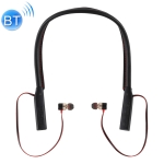 Plastic Bag Packaging Version Neck-mounted Magnetic Adsorption Bluetooth Earphone, Support Call & Micro USB Charging (Black)