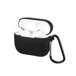 JOYROOM JR-BP598 Colorful Series Wireless Earphone Silicon Protective Case with Hook for Apple AirPods Pro (Black)