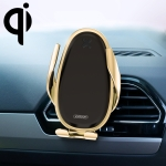 JOYROOM JR-ZS199 Speed Series Qi Standard Air Outlet Wireless Induction Charging Car Bracket (Gold)
