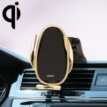 JOYROOM JR-ZS199 Speed Series Qi Standard Air Outlet + Center Control Console Wireless Induction Charging Car Bracket (Gold)