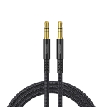 JOYROOM SY-15A1 AUX Audio Cable 3.5mm Male to Male Plug Jack Stereo Audio Wire AUX Car Stereo Audio Cable, Cable Length: 1.5m(Black)