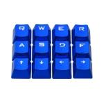 Ajazz AK33 12 Keys Laptop Computer Mechanical Keyboard Translucent Keycap (Blue)