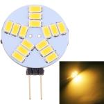 G4 15 LEDs SMD 5730 400LM 6000-6500K Stepless Dimming Energy Saving Light Pin Base Lamp Bulb, DC 12V (Warm White)