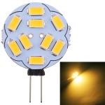 G4 9 LEDs SMD 5730 180LM 2800-3200K Stepless Dimming Energy Saving Light Pin Base Lamp Bulb, DC 12V (Warm White)