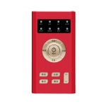 RK-C19 Live Broadcast Audio Headset Microphone Webcast Entertainment Streamer Sound Card for Phone, Computer PC(Red)