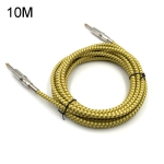 Wooden Guitar Bass Connection Cable Noise Reduction Braid Audio Cable, Cable Length: 10m
