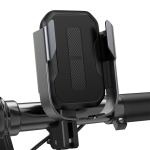 Baseus CW-JM/ZY Armor Motorcycle Bike Mobile Phone Holder Bracket (Black)