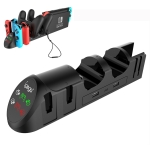 PG-9187 For Switch Pro / Joy-Con Gaming Controller Grip Gamepad Charger (Black)