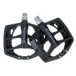SHANMASHI NP-1 1Pair Nylon Carbon Fiber Pedal Non-slip Comfortable Foot Pedal (Black)