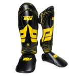 MTB SJ-004B Freestyle Grappling Thai Boxing Taekwondo Thickening Leg Guards Protective Gear, Size: M(Black)