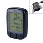 SUNDING 563A Bike Bicycle Waterproof Wired LCD Screen Luminous Mileage Speedometer Odometer, Chinese Version (Black)