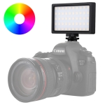 PULUZ Pocket 100 LED 800LM RGB Full Color Dimmable LED Color Temperature Vlogging On Camera Light Photography Fill Light for Canon, Nikon, DSLR Cameras, Smartphones (Black)