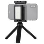 PULUZ Mobile Phone Live Set Pocket Self-Timer Fill Light Phone Clamp Bracket Mount Desktop Tripod(Black)