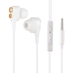 MTS D12 3.5mm Stereo In-ear Wired Control Earphone, Supports Hands-free Calling, Cable Length: 1.2m(White)