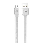 Meizu 1.2m Noodle Weave Style Metal Head 5V 2A Micro USB to USB 2.0 Data Sync Charging Cable(Silver)