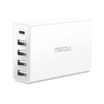 Meizu 4 x USB + USB-C / Type-C Ports Desktop Charger (White)
