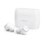MEIZU POP2 IPX5 Waterproof Bluetooth 5.0 Touch Wireless Bluetooth Earphone with Charging Box, Support for Bilateral Calls (White)
