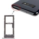 SIM Card Tray + Micro SD Card Tray for Galaxy S10+ / S10 / S10e(Black)