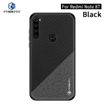 For Xiaomi RedMi Note8T PINWUYO Rong Series  Shockproof PC + TPU+ Chemical Fiber Cloth Protective Cover(Black)