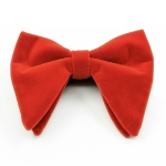Men Velvet Double-layer Big Bow-knot Bow Tie Clothing Accessories(Orange)