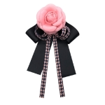 Ladies Three-dimensional Bow-knot Bow Tie Brooch Clothing Accessories(Pink)
