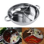 Spicy Sannomiya Hot Pot Basin Soup Pot Party Cooking Tools, Size:Thicker Diameter 38cm