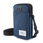 YIPINU Multifunctional Hanging Neck Mini Waterproof Mobile Phone Storage Bag(Dark Blue)