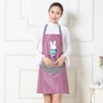 Cartoon Rabbit Pattern Sleeveless Waterproof Apron Kitchen Restaurant Overalls, Size:One Size(Purple)