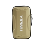 YIPINU Outdoor Multifunctional Arm Cycling Running Fitness Sports Phone Bag(Gold)