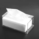 2 PCS Transparent Acrylic Tissue Box