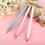 3 PCS Creative Student Stationery Crown Gel Pen Cute Fresh Mechanical Pencil Random Color Delivery, Written:0.7mm