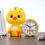 3 PCS Creative Children Cartoon Cute Duck Student Alarm Clock(Yellow)