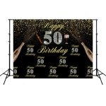 2.1m x 1.5m 50th Birthday Party Venue Set Studio Photography Background Cloth