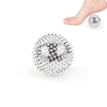 1 Pair Magnetic Massage Ball Relax Muscle Finger Plantar Pressure Massage Stab Ball, Size:5.6cm(Silver)