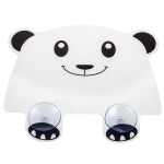 2 PCS Cartoon Panda Shape Kitchen Dishwashing Sink Baffle Household Splashproof Waterproof Sink Flap(White Panda)