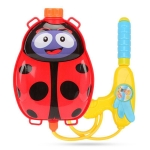 3PCS Cartoon Animal Water Spray Toy Beach Backpack Water Gun Outdoor Toy(Ladybug)