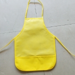 2 PCS  Non-woven Apron Home Painting Clothes for Children(Yellow)
