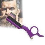Stainless Steel Vintage Razor Thumb Razor(Purple)